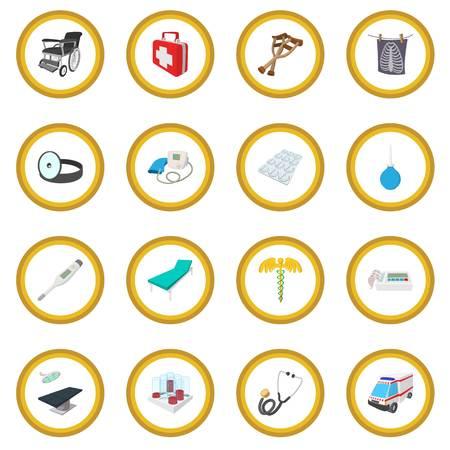 Medical isometric 3d icon circle