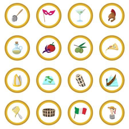 Italy cartoon icon circle