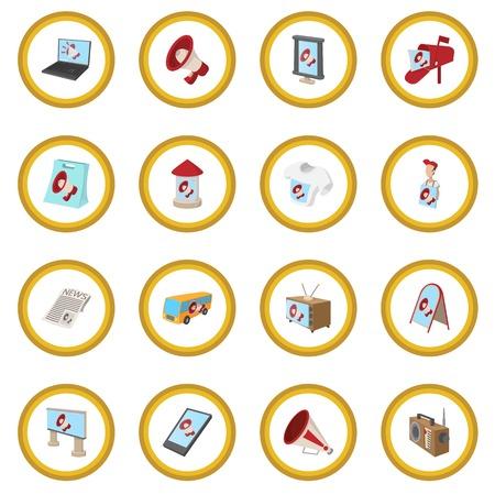 Advertisement icon circle