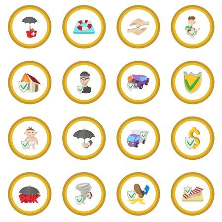 Insurance icon circle