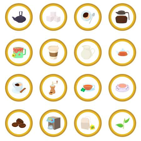 Coffee and tea icon circle