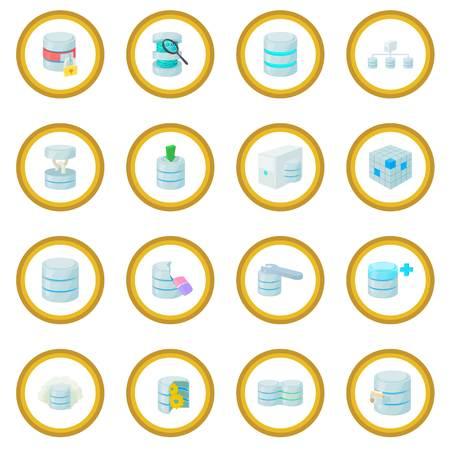 Data base icon circle Illustration