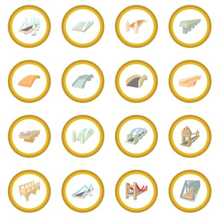 Bridge set icon circle Illustration