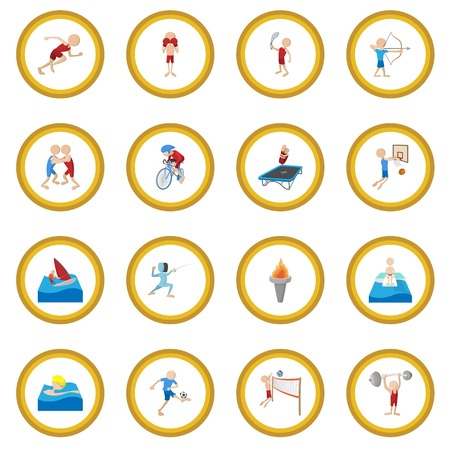 Summer sport cartoon icon circle