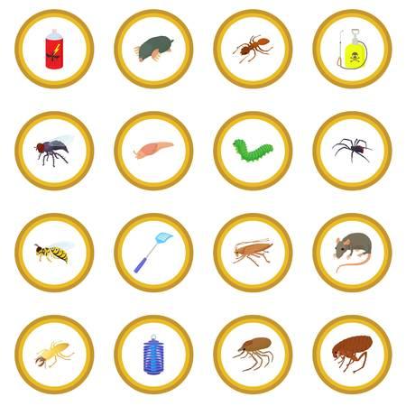 malaria: Insect icon circle Illustration