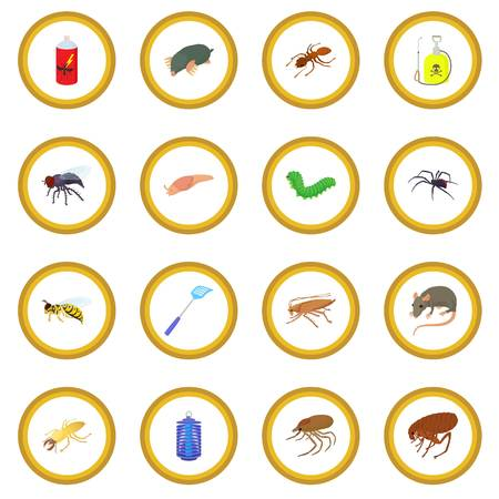 Insect icon circle Illustration