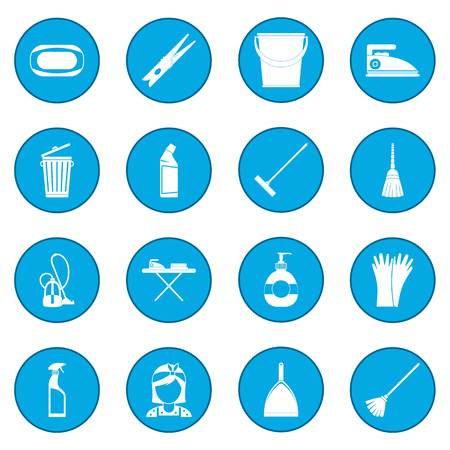 squeegee: Cleaning icon blue