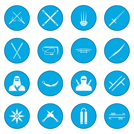 Ninja icon blue Illustration