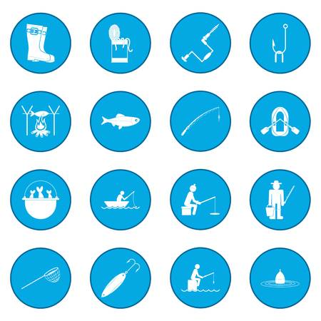 Fishing icon blue