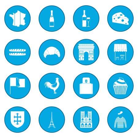 France black icon blue Illustration