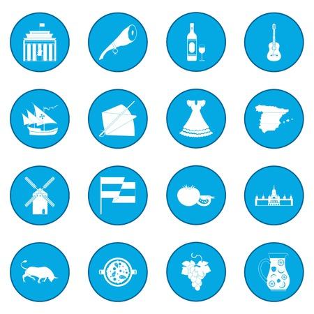 Spain icon blue