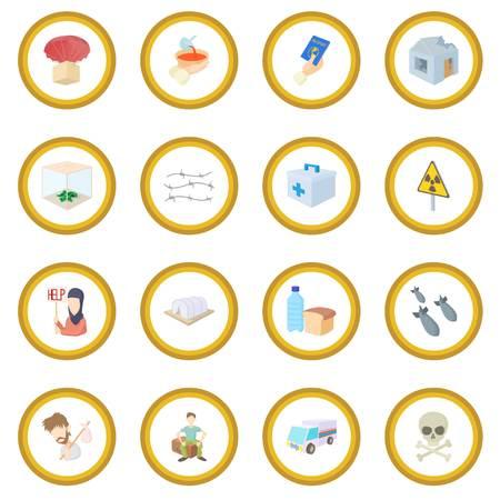 Refugees icon circle Ilustrace