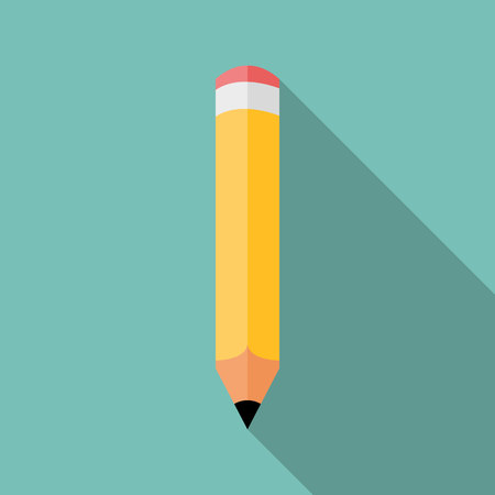 Pencil icon, colored flat