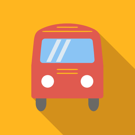 Bus colored flat icon