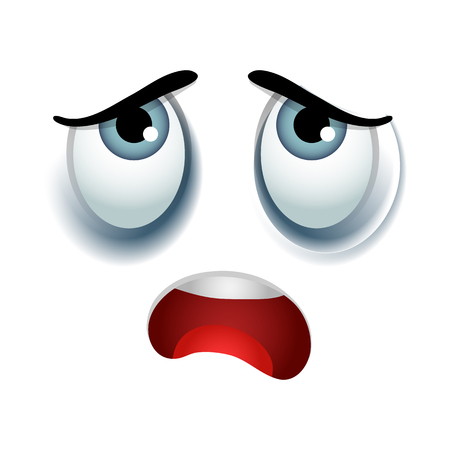 Tired emoticon sign Stock Photo