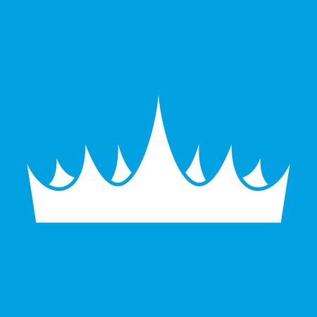 Crown white icon Фото со стока - 107521753