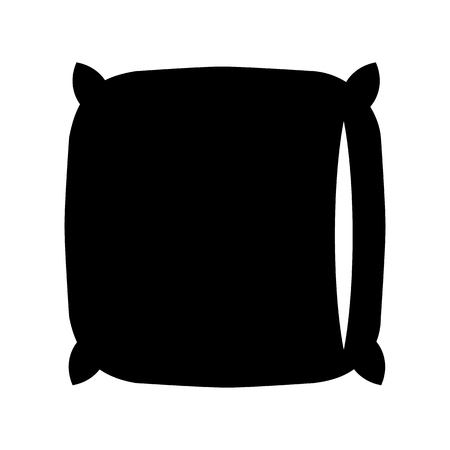 Pillow black icon Stock Photo