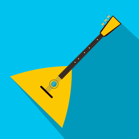 Balalaika flat icon for web and mobile devices