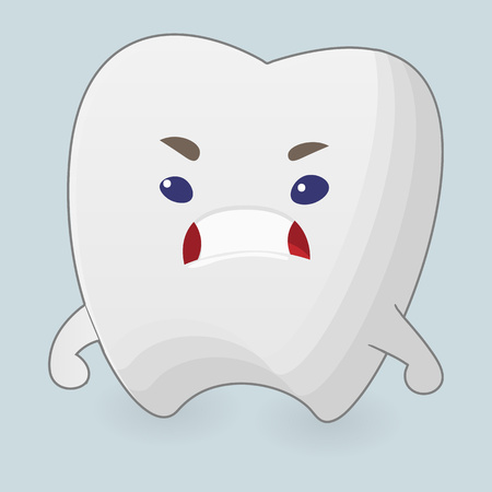 Illustration of angry tooth