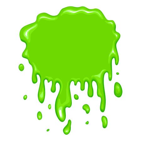 Meilleure icône de slime vert Banque d'images