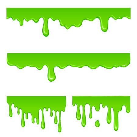 New green slime set Reklamní fotografie