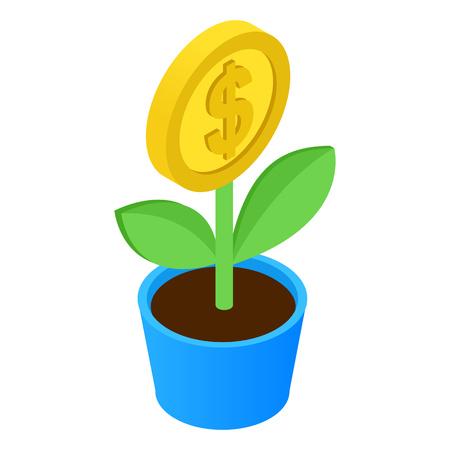 Money tree isometric icon