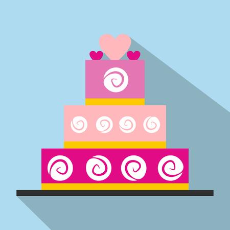 Wedding cake flat icon