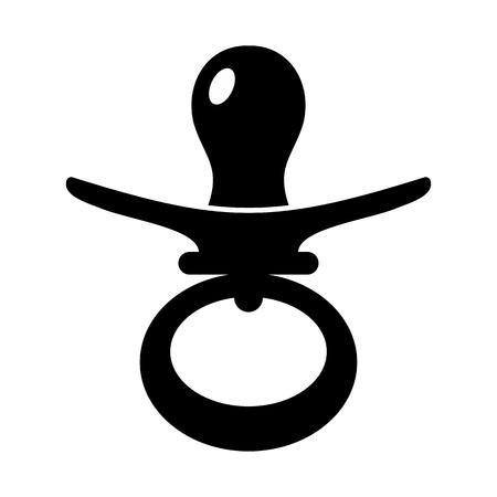 Nipple simple icon Фото со стока - 107432915