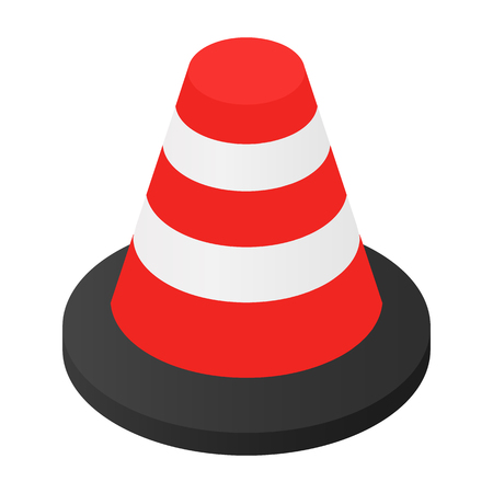 Traffic cone isometric 3d icon