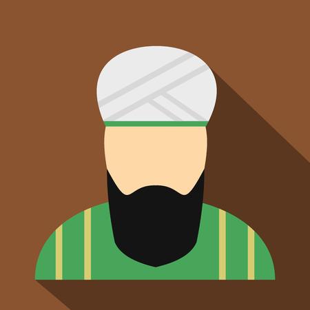 Muslim man flat icon