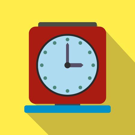 Vintage alarm clock flat icon Stok Fotoğraf