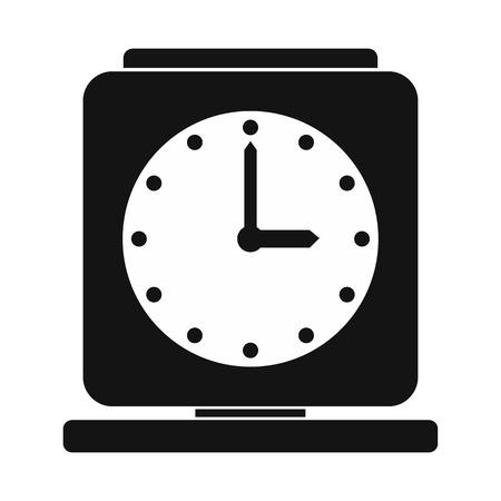 Vintage alarm clock simple icon