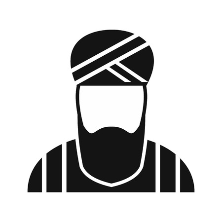 Muslim man simple icon