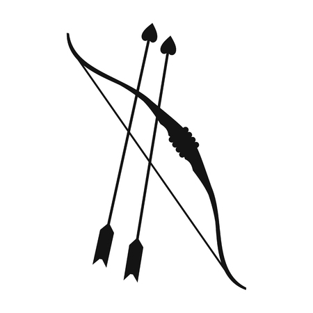 Cupid bow and arrows simple icon