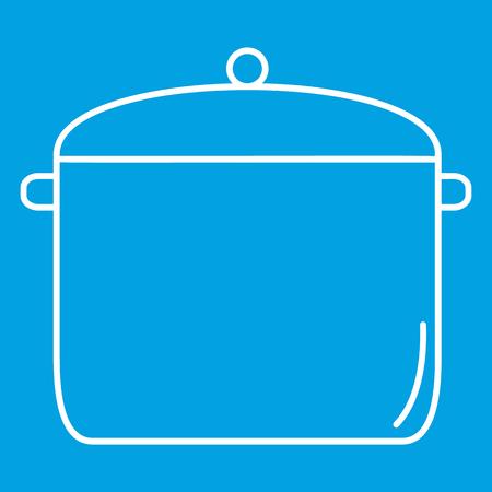 Pan thin line icon Stock Photo