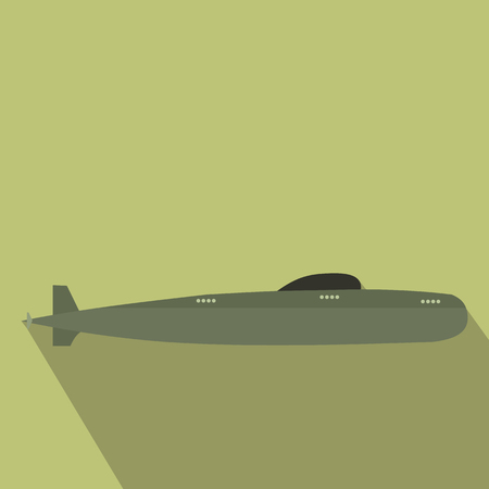 Submarine flat icon