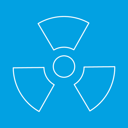 Radiation thin line icon Stock Photo