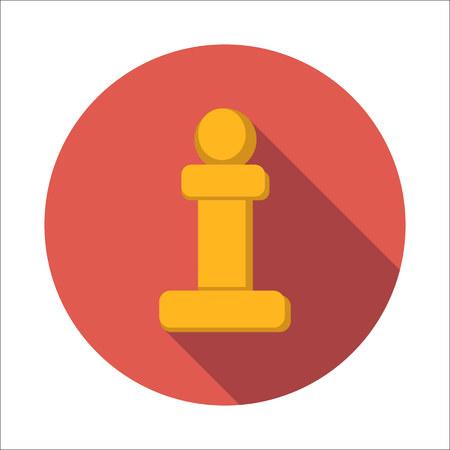 Chess pawn flat icon