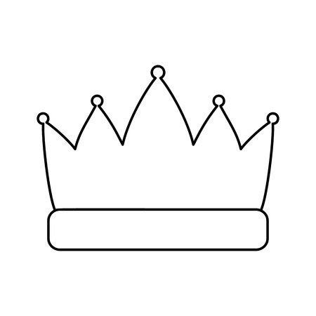 Crown line icon, thin contour on white background