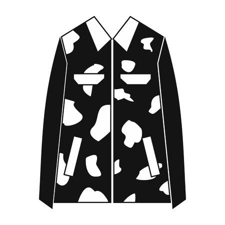 Camouflage jacket simple icon. Military jacket isolated on white background