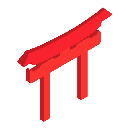 Shintoism isometric 3d icon on a white background