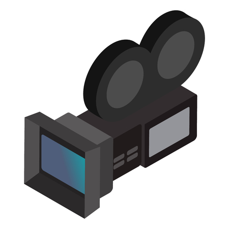 Movie camera isometric 3d icon isolated on a white background 스톡 콘텐츠