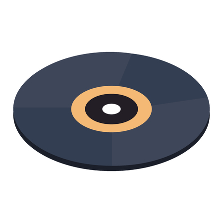 Vinyl record isometric 3d icon isolated on a white background Stock Photo