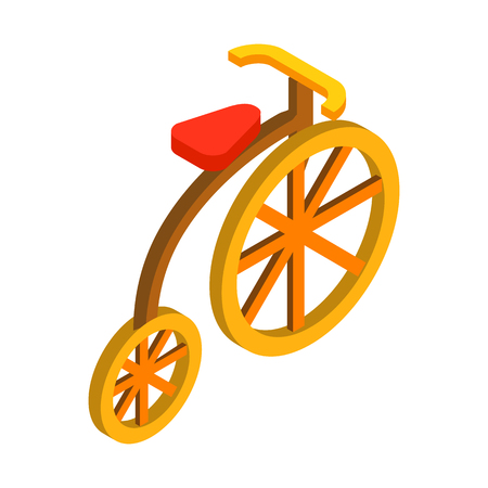 Circus bike isometric 3d icon isolated on a white background