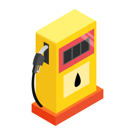 Gas station isometric 3d icon on a white background Stock Photo