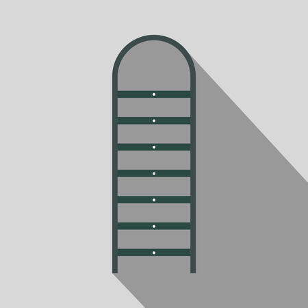Ladder flat icon with shadow for web and mobile devices 写真素材