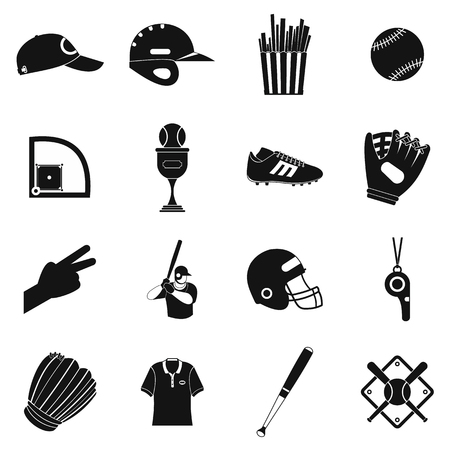 American football black simple icons for web and mobile devices Stock Photo