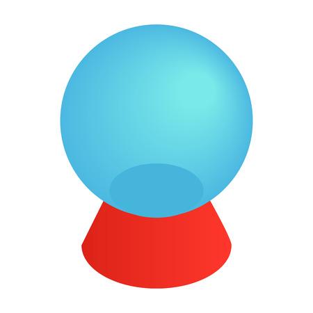 Magic ball isometric 3d icon on a white background Stock Photo