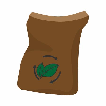 Bag of manure cartoon icon