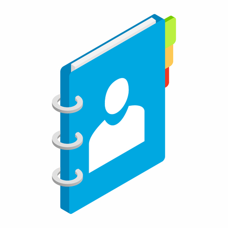 Spiral notebook isometric 3d icon